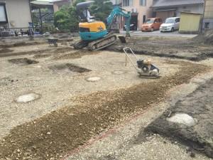 ついに基礎工事(掘削)始まる