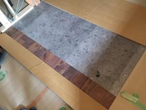 キッチンの床貼り完了(アーキスペックフロアーA)