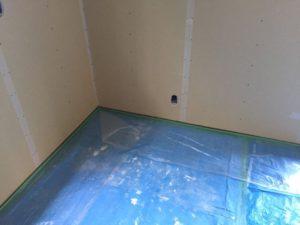 漆喰の塗り壁の下地造り