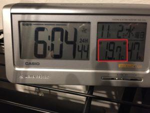 セルロースファイバーでの室内と室外の温度差は?