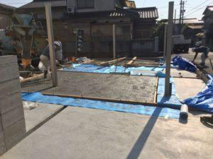 【第3弾】コンクリート打設(駐車場の残り部分)
