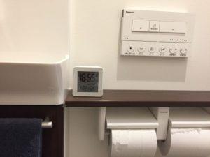 トイレの時計は「KEYUCA(ケユカ)cube 電波クロック」