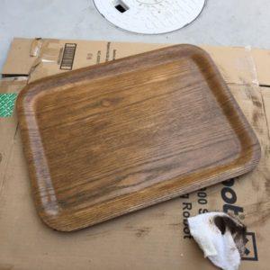 無印の木製トレー・タモをオスモで塗る