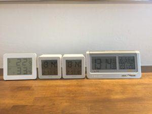 温度計と湿度計のばらつきを調べる