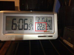 2017年2月17日の室温と外気温