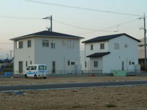 若草園周辺が住宅地になっている