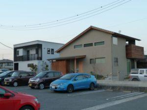 最近建てられたモダンなお家