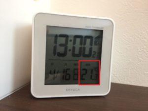 2017年4月16日の暑い日の室内温度