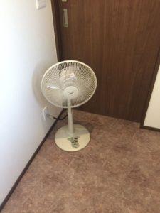脱衣室に扇風機は正解!