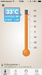 昼間エアコンをオフにしたときの室温