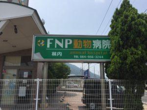 犬の形をしたFNP動物病院