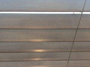 リビングの木製ブラインドを清掃