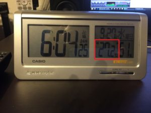 久しぶりに室温を計測してみた