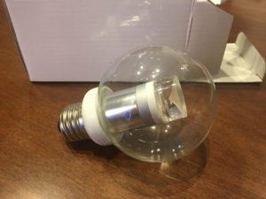 切れたカウンターのLED照明の交換