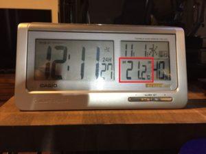11月1日の昼の室温です