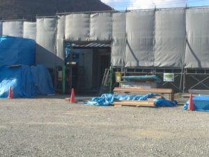 水呑交流館新築工事がさらに進んでいます