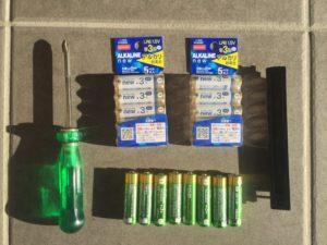 2回目の玄関ドアの電池交換