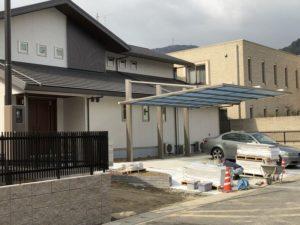 ハウスメーカーの大きなお家の外構工事2