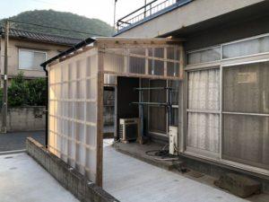 洗濯物干し場の施工