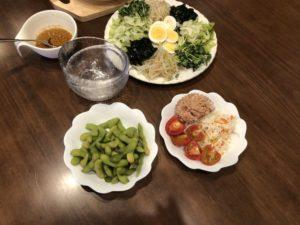 枝豆の収穫と試食