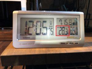 書斎の日中の室温