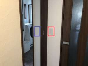 洗面所のスイッチの位置が残念