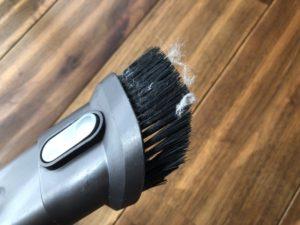 リビングのウッドブラインドの掃除