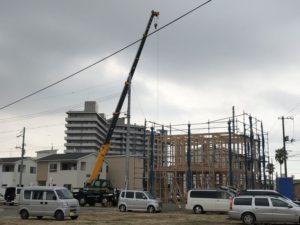 ワウタウン水呑三新田で棟上げ