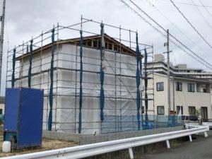 ワウタウン水呑三新田で棟上げ完了