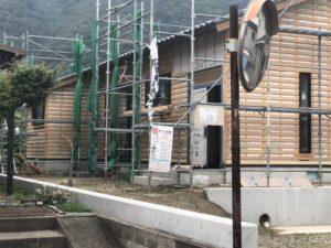 田尻町の建築中のお家(平屋)