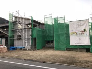 田尻町の建築中のお家2(大きな屋根)