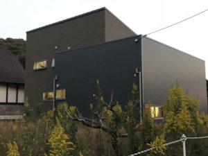 田尻町の建築中のお家2(ガルバの壁)
