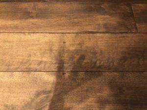 書斎の床の塗装