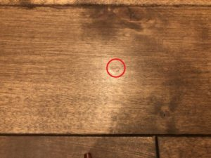 廊下の傷を補修