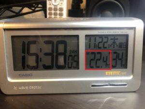 2018年11月の室温と外気温