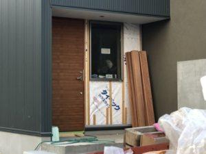 田尻町の建築中のお家3(ガルバの壁)