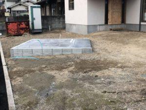 田尻町の建築中のお家4(大きな屋根)