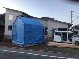田尻町の建築中のお家5(大きな屋根)