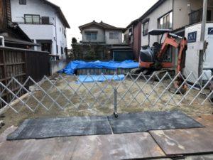 我が家の近くの基礎の施工2