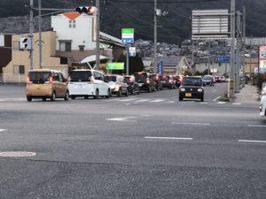 カープオープン戦で水呑町は大渋滞