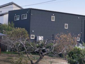 黒い壁の家
