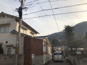 近所で電気工事