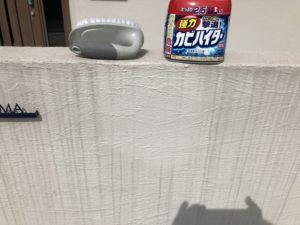 2年目の定期点検・補修(玄関前の塀の掃除)