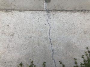 2年目の定期点検・補修(コンクリートひび割れ修理)