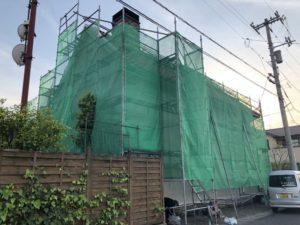塗り壁のお家の外壁補修