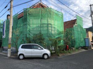 塗り壁のお家の外壁塗装