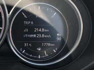 CX-5の燃費が23.8km/L!