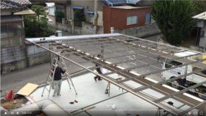 カーポート「アーキデュオ ワイド」の屋根を設置する動画
