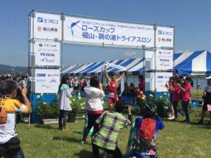 ローズカップ 福山-鞆の浦トライアスロンを見学
