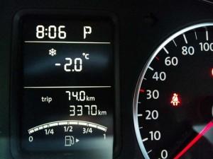 ついに-2℃